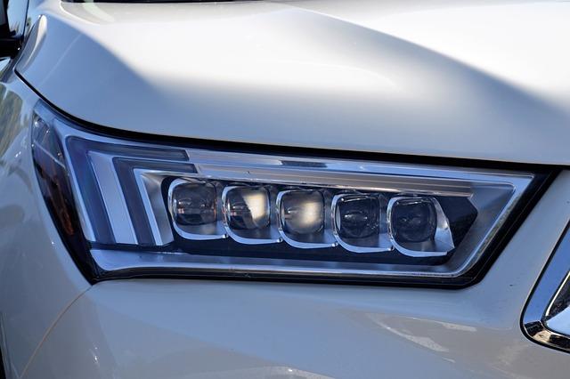 světlomety auta
